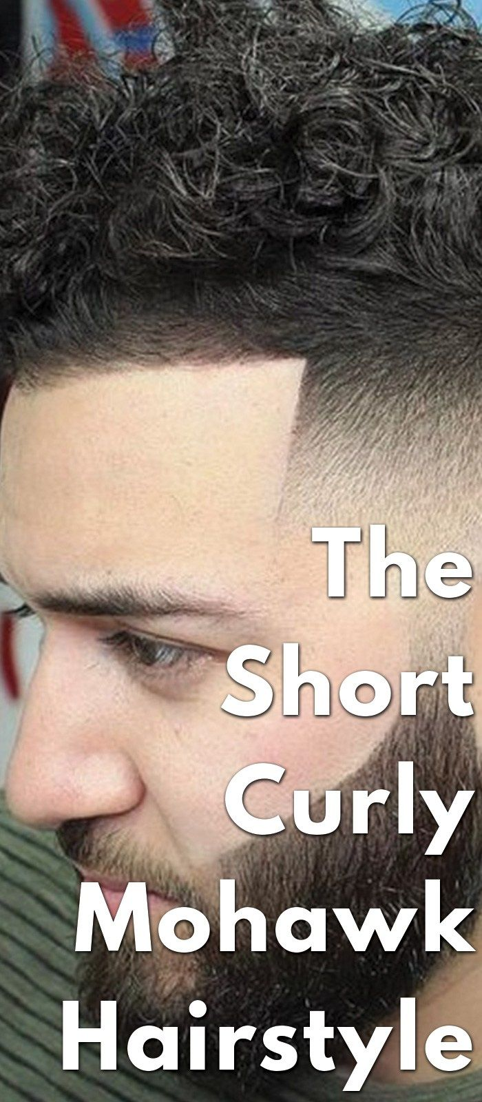 Style your short hair like a pro with the short curly mohawk