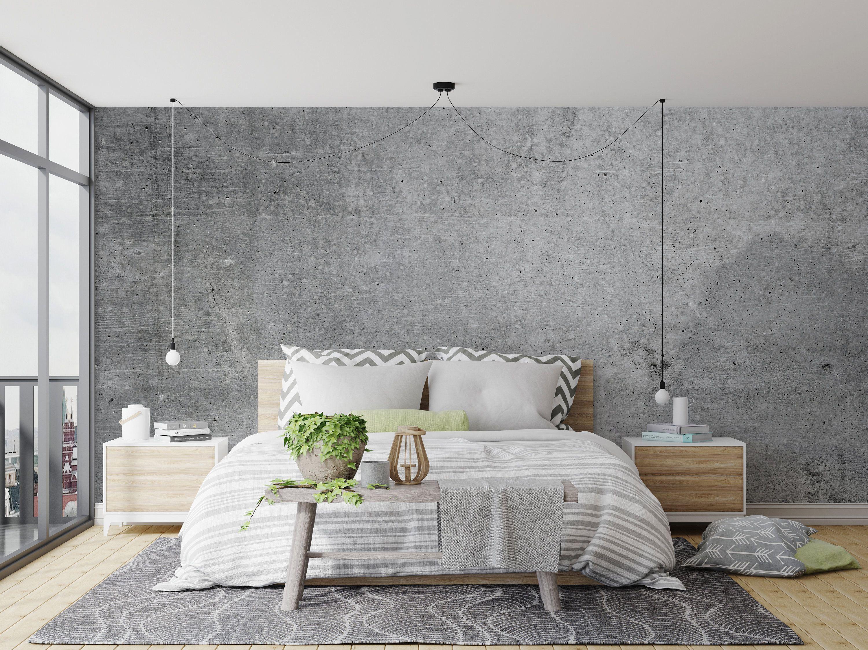 Cement Concrete Peel Stick Fabric Wallpaper Repositionable Concrete Wallpaper Concrete Wall Texture Decorative Concrete Panels