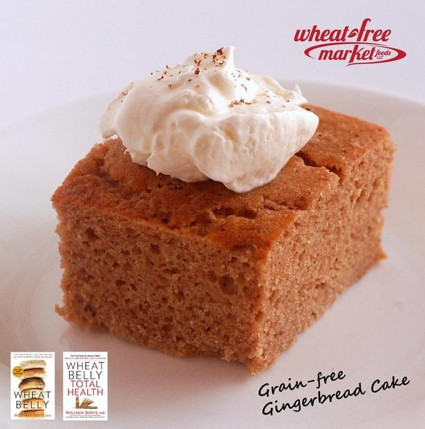 Gingerbread Cake. Made with #WheatBelly grain-free flour
