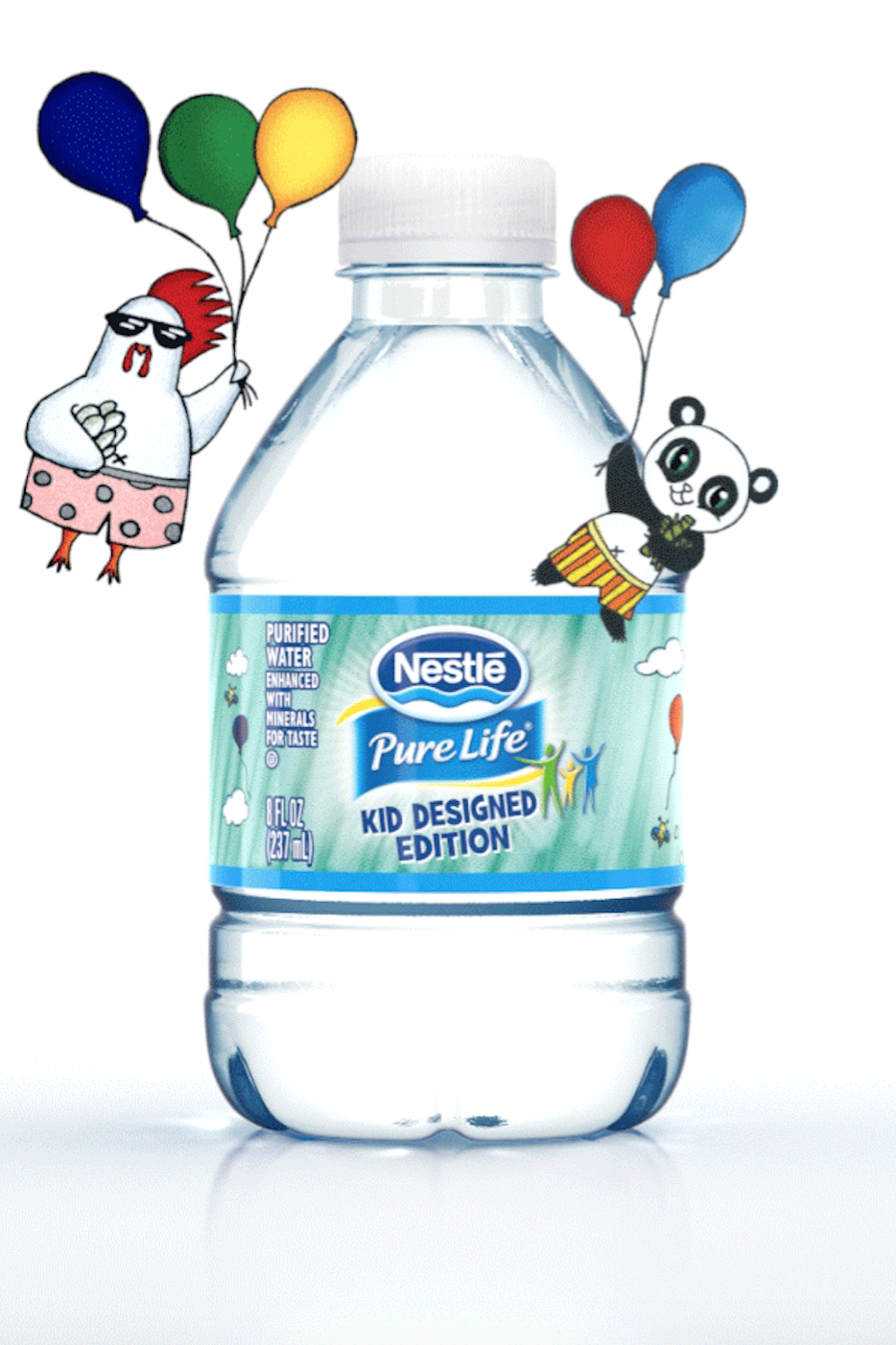 Nestle Pure Life Kid Friendly 8oz Share A Smile Bottles Make Drinking Water Fun These Limited Edition Bottles Are De Nestle Pure Life Pure Products Nestle