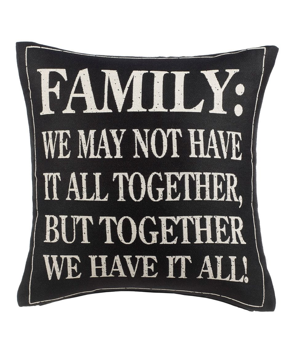 Look what I found on #zulily! Charcoal 'Family' Pillow by GANZ #zulilyfinds