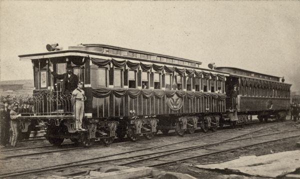 Lincoln Funeral Train The United States With Black Bunting During