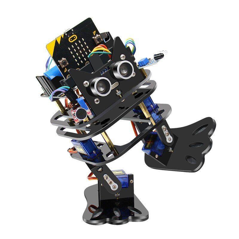 Elecrow Micro Bit Programmable Dancing Diy Robot Bipedal Humanoid Servo Robots Micro Bit Programming Learning Kit For Children Elecrow Diy Robot Robot Diy