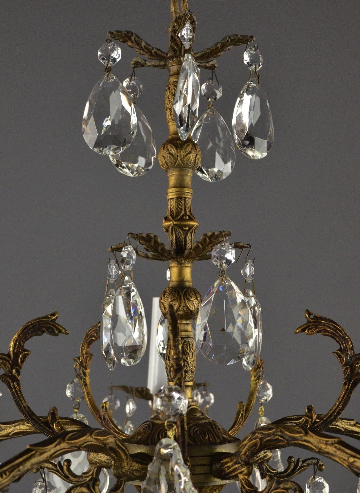 http://www.ebay.com/itm/Large-Spanish-. ChandelierSpanishSparkleBrassAntique  Lamps - Vintage Chandeliers Made In Spain Ebay Beautiful Vintage 8 Light