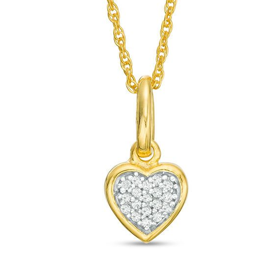 1 20 Ct T W Diamond Heart Pendant In 10k Gold Diamond Heart Pendants Diamond