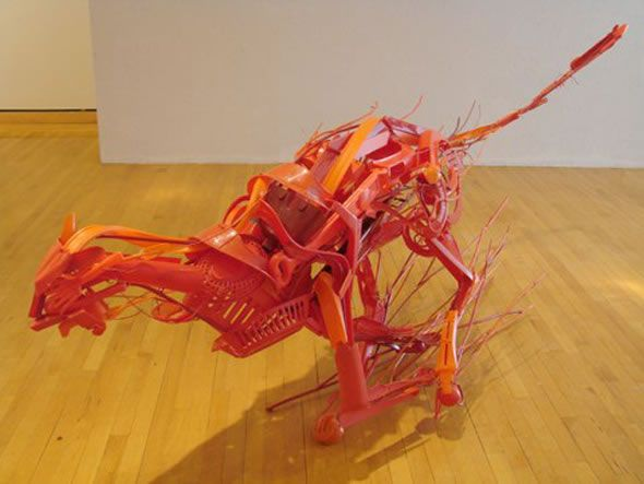 Sayaka Kajita Ganz is an artist that creates amazing unique sculptures made from plastic pieces. She creates sculptures of different animals from a thousands of plastic pieces. She says that she creates those sculptures from a different discarded objects from peoples' houses. She claims that the fact that those objects were part of other peoples' lives …