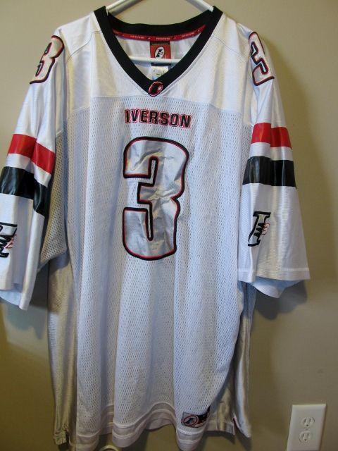 Reebok Allen Iverson Football jersey  847a4cd11