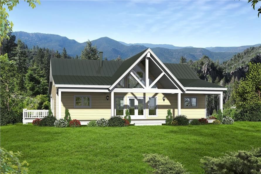 Color rendering of Traditional home plan (ThePlanCollection House