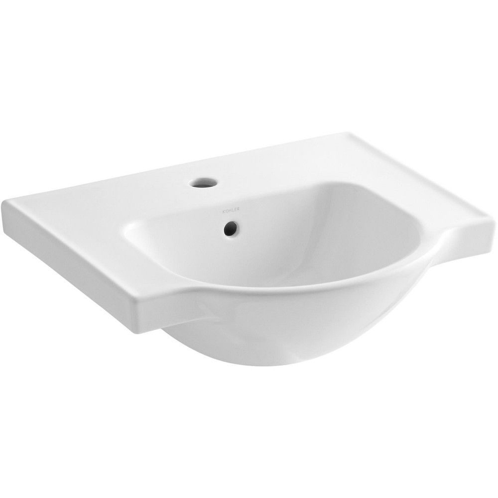 Kohler K 5247 1 Veer 21 Pedestal Bathroom Sink With One Hole