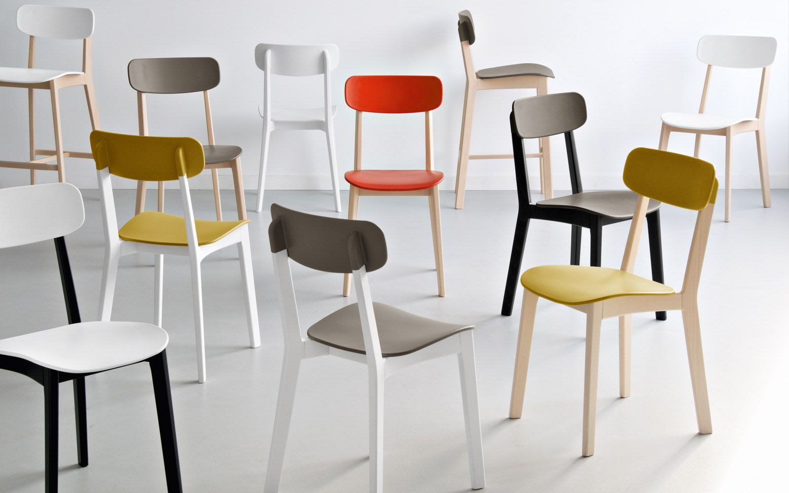 Cream: sedie in legno e plastica - Calligaris CS/1369 | Furniture ...