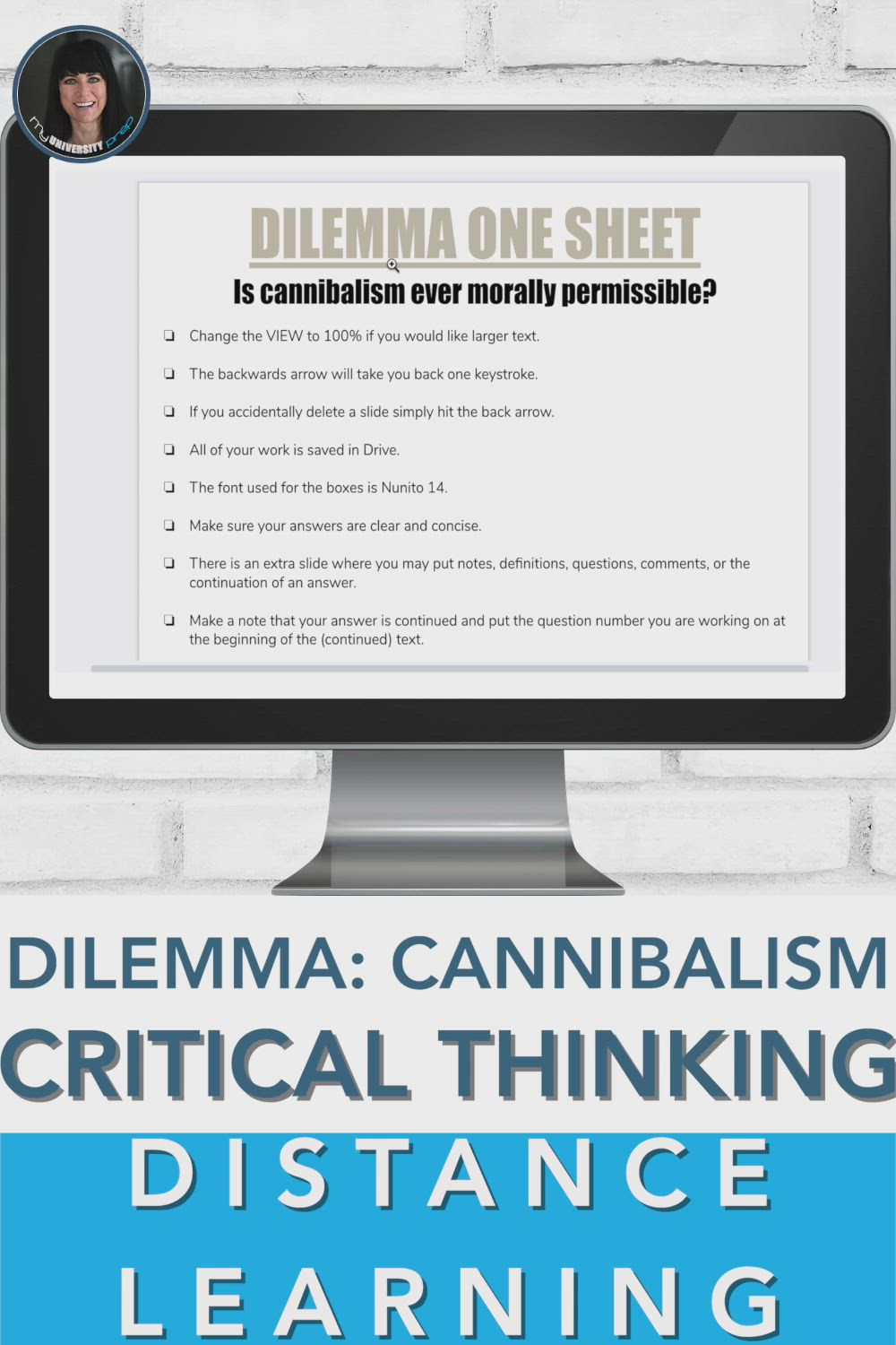 Critical Thinking Informational Text Dilemma One Sheet Distance Learning Video Video Distance Learning Critical Thinking High School Literature