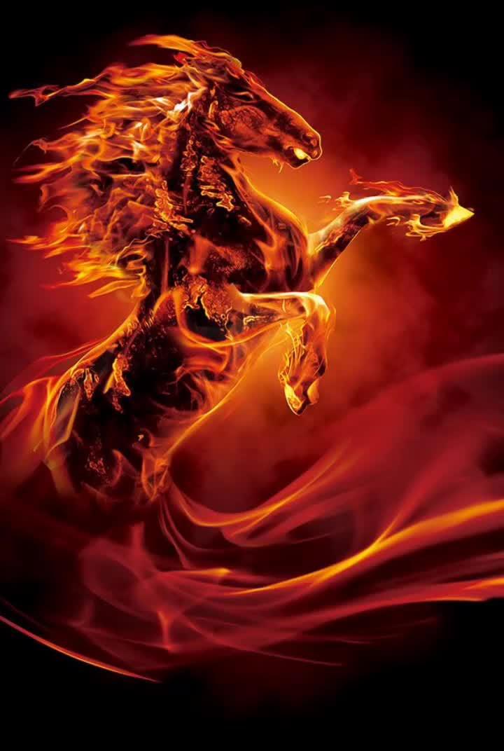 Картинки коней в огне