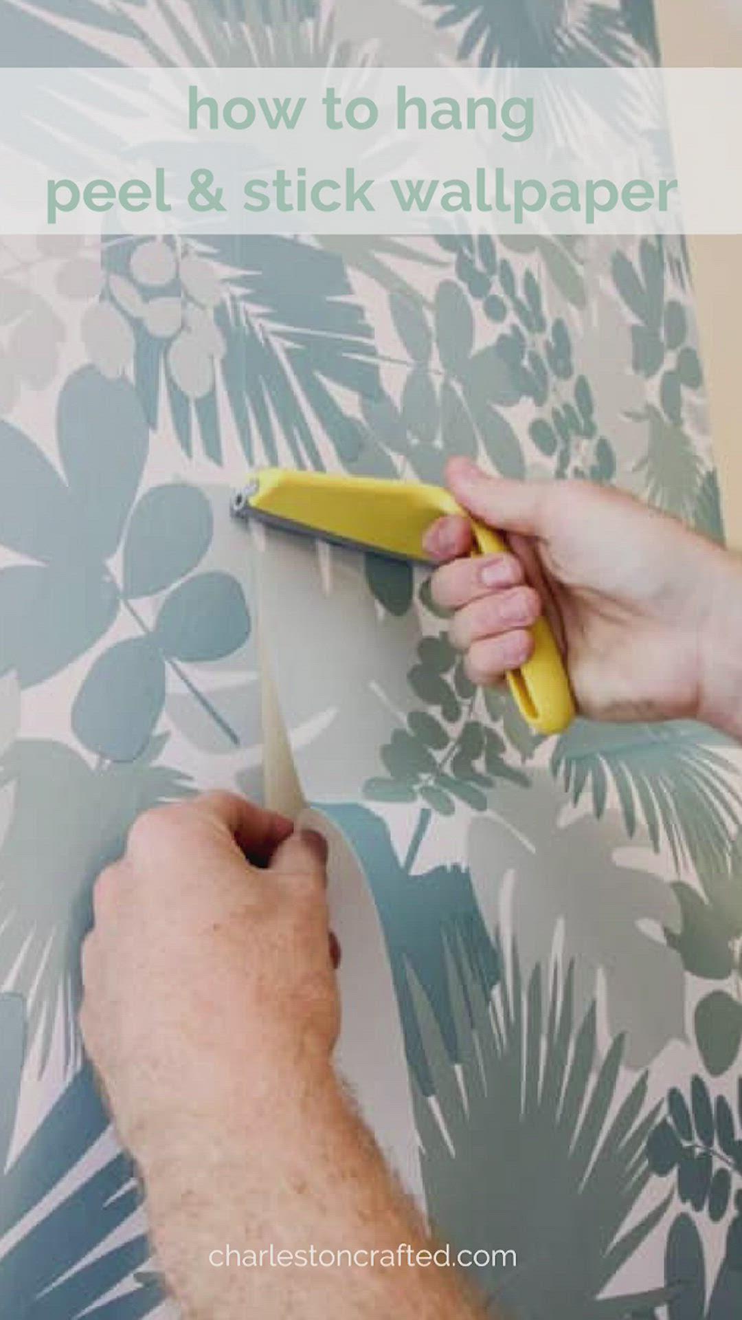 How To Hang Peel Stick Wallpaper Video Video Peel And Stick Wallpaper Stick On Wallpaper Diy Wallpaper