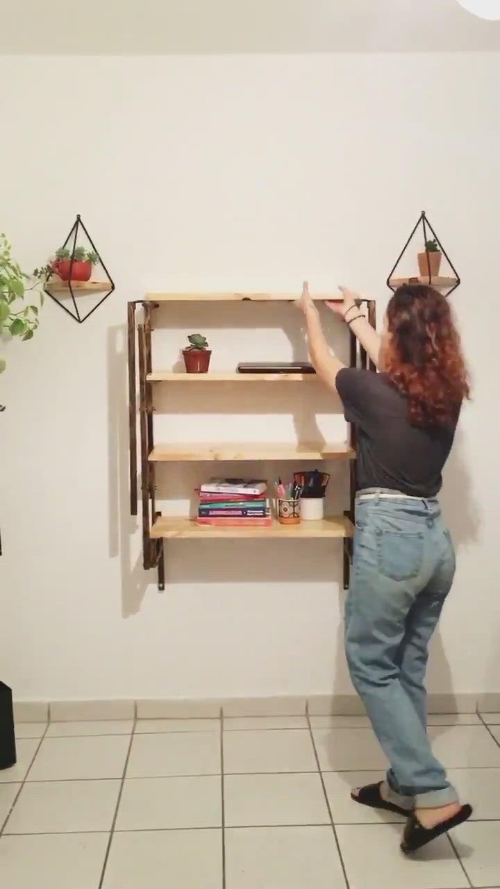 Madera Colgante Escritorio Pared,Mesa Cocina,Puede Cargar 75kg ZYFA Plegable Estanter/ía De Pared,Estanter/ías Pared Baldas Flotantes