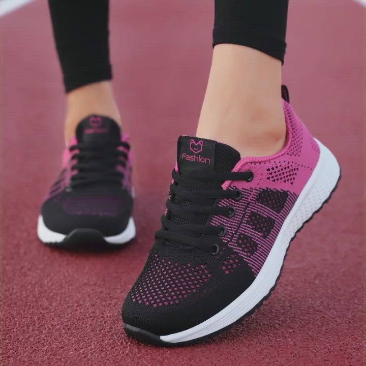 Details about  /Women/'s Casual Breathable Sneakers Flats Walking Shoes Loafers Jogging 35//42 B