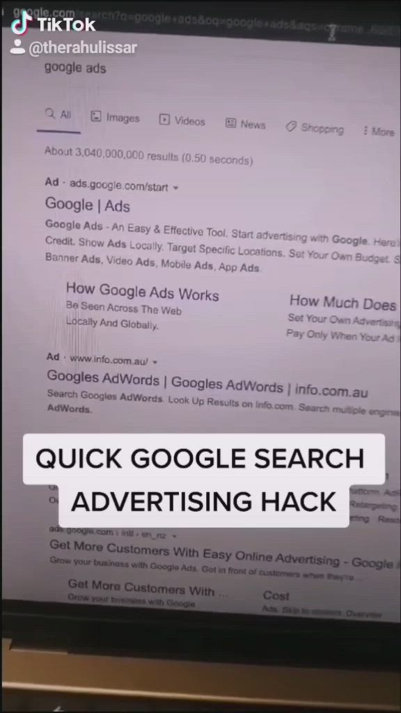 Google Search Ad Hack Video Successful Business Tips Small Business Advice Business Checklist