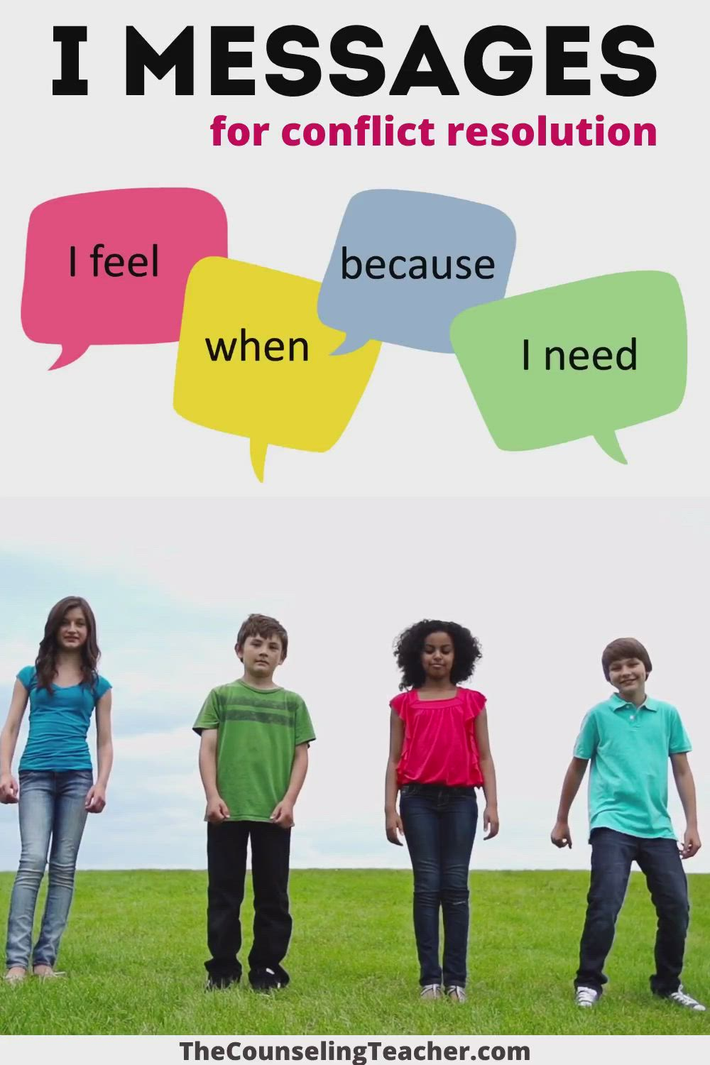 I Messages For Conflict Resolution Video Conflict Resolution Social Skills Lessons Conflict Resolution Skills