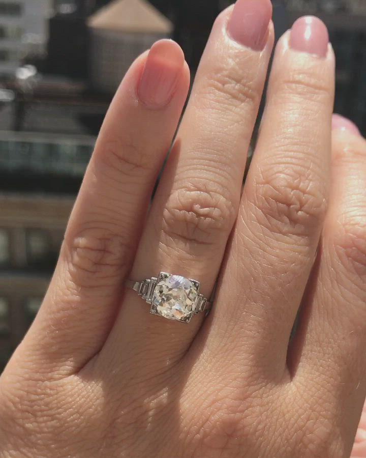 1.50 CT Round VVS1 Diamond 14K White Gold Fn Bezel Set 3 Stone Engagement Ring