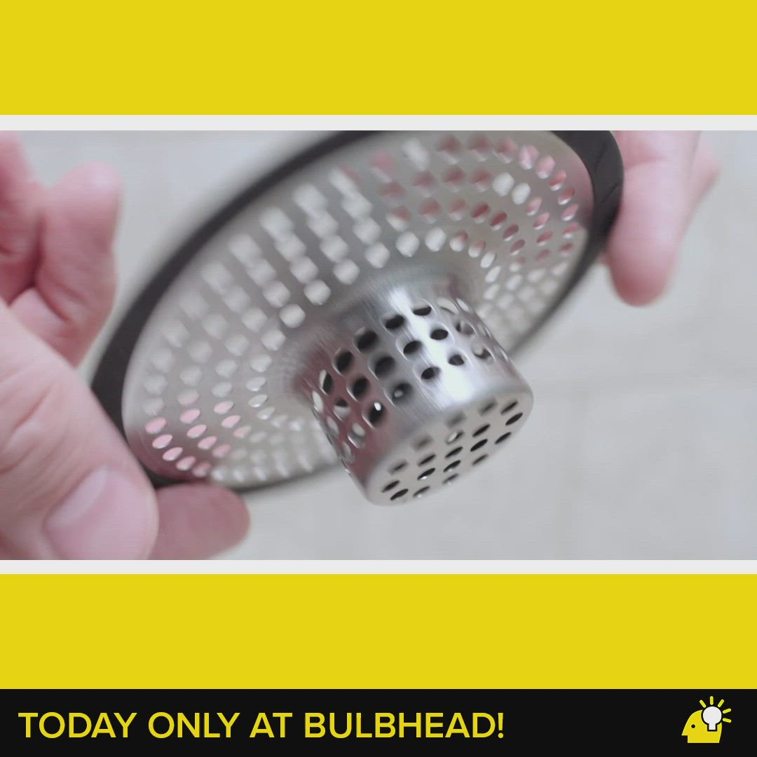Drain Hair Catcher Today Only At Bulbhead Video In 2021 Red Copper Pan Star Shower Cleaning
