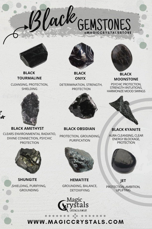 Black Tourmaline Vs Black Obsidian : black, tourmaline, obsidian, Black, Gemstones, [Video], Gemstones,, Crystals,, Wedding, Accessories, Jewelry