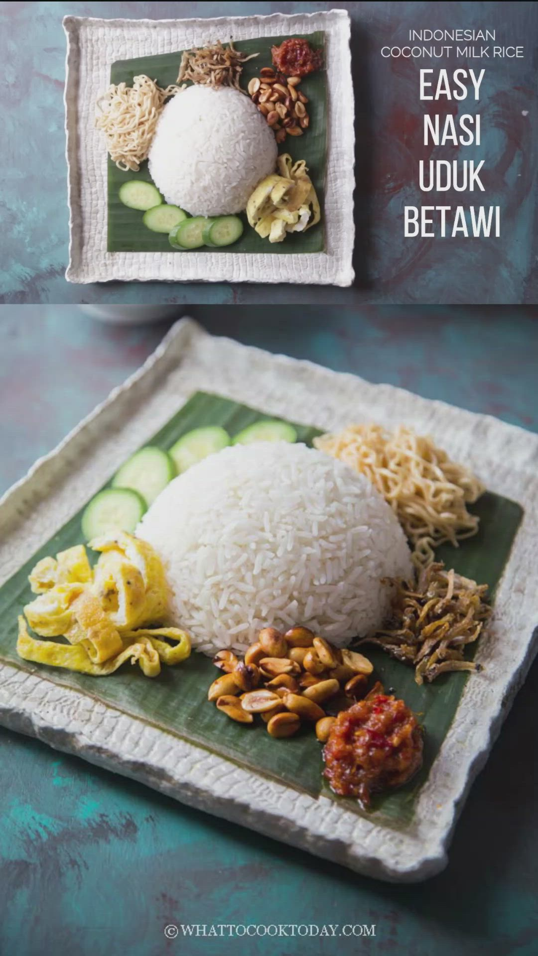 Resep Nasi Uduk Betawi : resep, betawi, Betawi, (Indonesian, Coconut, Rice), [Video], Instant, Asian, Recipes,, Party, Punch