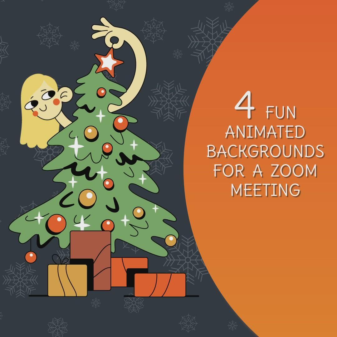4 Funny Christmas Zoom Backgrounds Christmas Video Zoom Etsy Video Video Christmas Humor Christmas Gif Animation Background