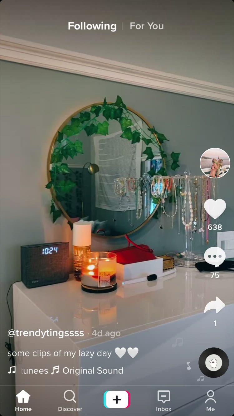 Lazy Day Grwm Tiktok Video Cozy Room Decor Girl Bedroom Decor Aesthetic Room Decor