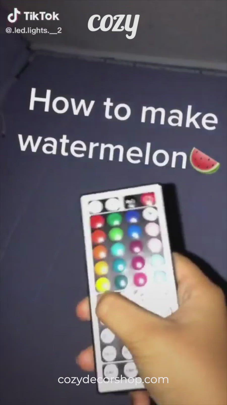 How To Make Watermelon Tiktok Led Lights Video Led Lighting Diy Led Room Lighting Led Light Strips Diy