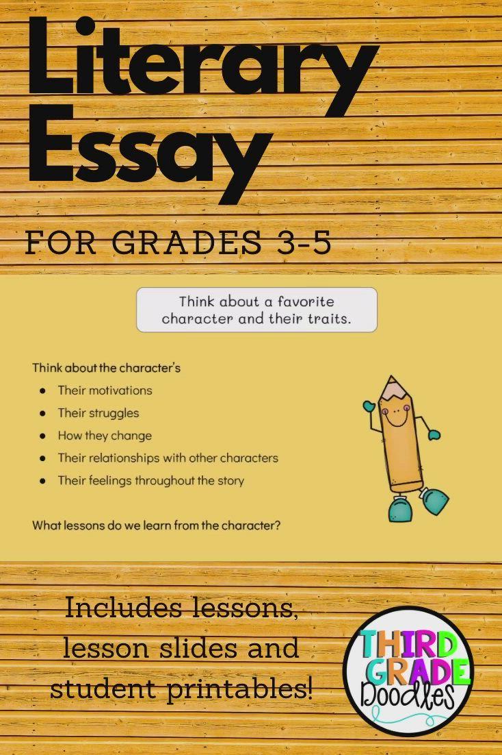 Literary Essay For Grades 3 5 Video Literary Essay Elementary Writing Essay [ 1102 x 734 Pixel ]