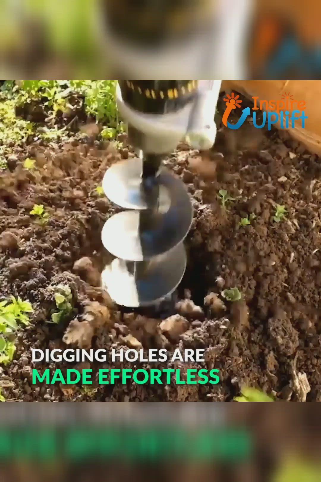 Garden Spiral Hole Drill Planter Video Video Drill Garden Tools Digging Holes