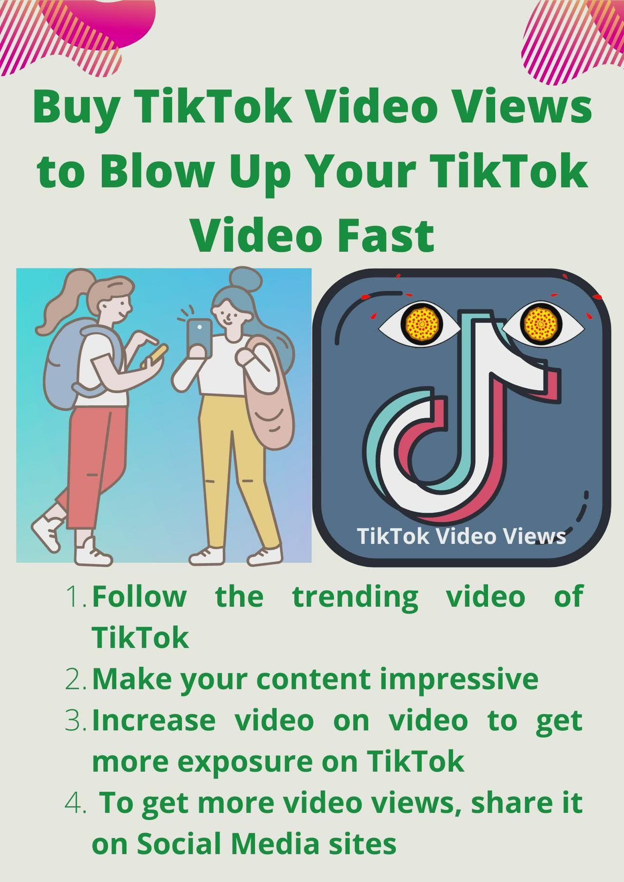 Buy Tiktok Video Views To Blow Up Your Tiktok Video Fast Video Video Music Videos Stuff To Buy