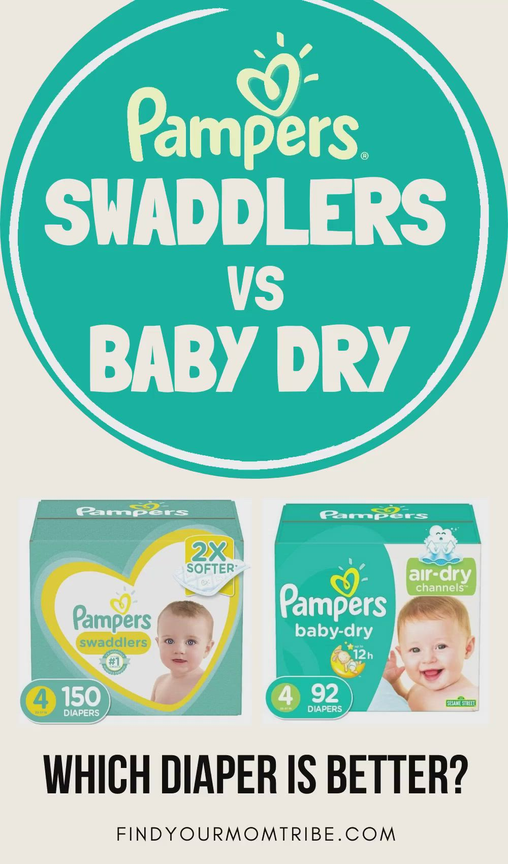 Swaddlers Vs Baby Dry : swaddlers, Pampers, Swaddlers, Diapers:, Which, Better?, [Video], Swaddlers,, Pampers,