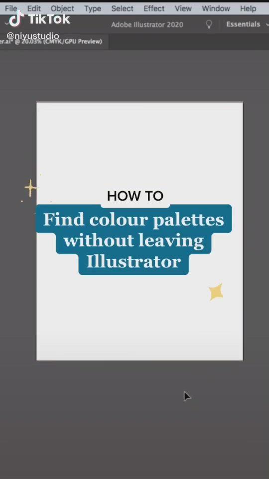 Easy To Find Color Ideas For Illustrator Video In 2020 Illustration Digital Art Tutorial Find Color