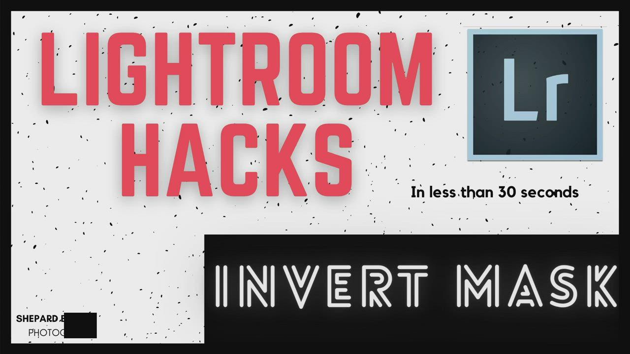 How to invert mask in lightroom