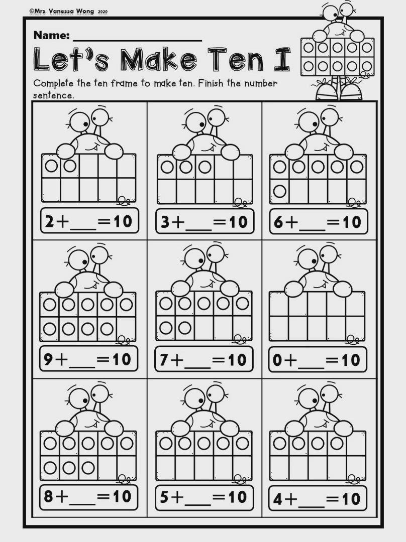 Pin By The Moffatt Girls On Kinderland Collaborative Numbers Kindergarten Number Worksheets Kindergarten Decomposing Numbers Kindergarten [ 1325 x 1024 Pixel ]