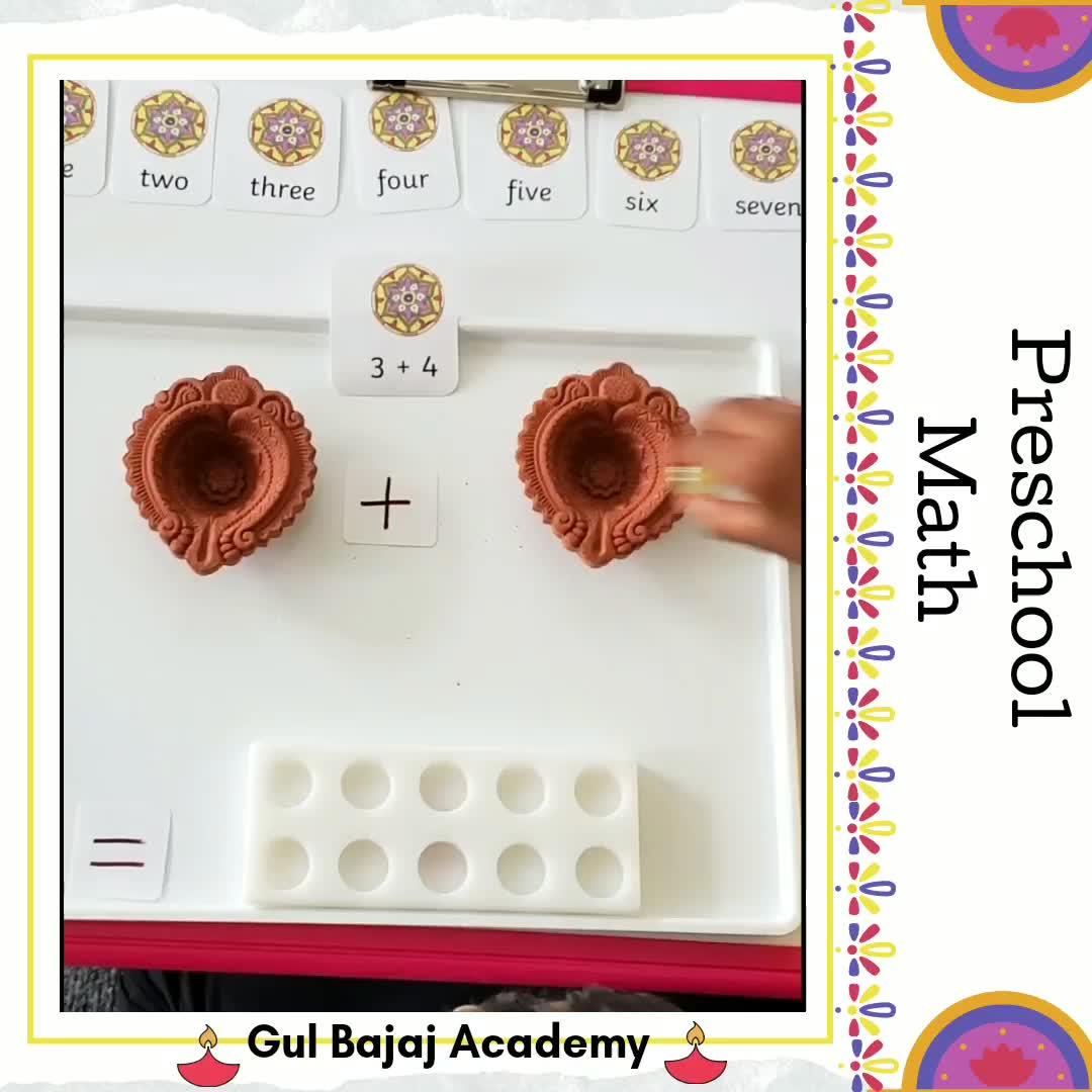 Diwali Unit Study Preschool Video Montessori Activities Montessori Preschool Math [ 1080 x 1080 Pixel ]