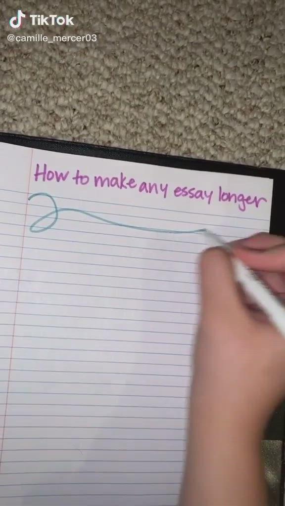 How To Make Any Essay Longer Educational Tiktok Video In 2021 Life Hacks For School School Study Tips Essay Writing Skills