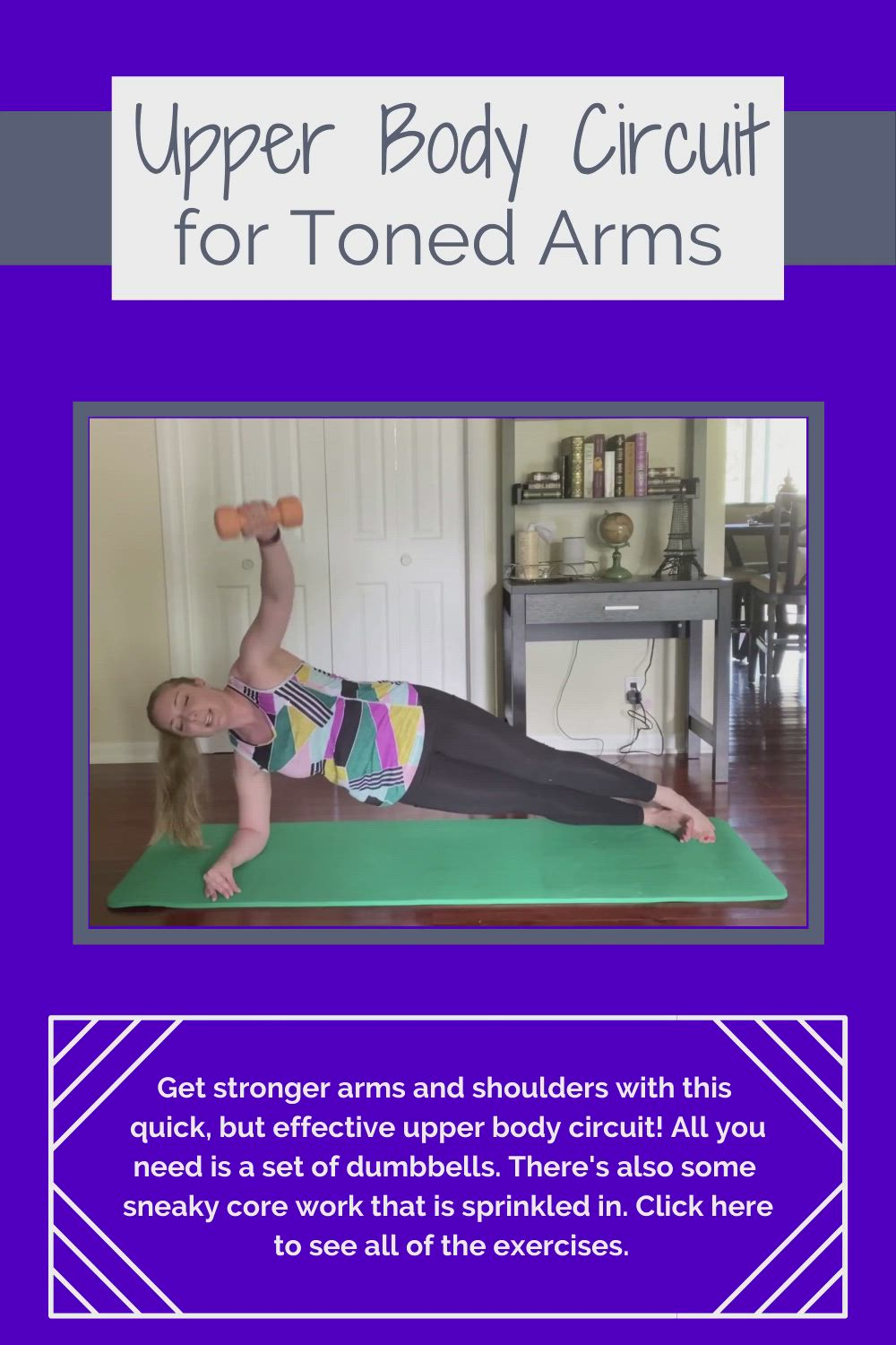 Perinatal Safe Arm And Shoulders Workout Video Upper Body Workout Shoulder Workout Upper Body Circuit
