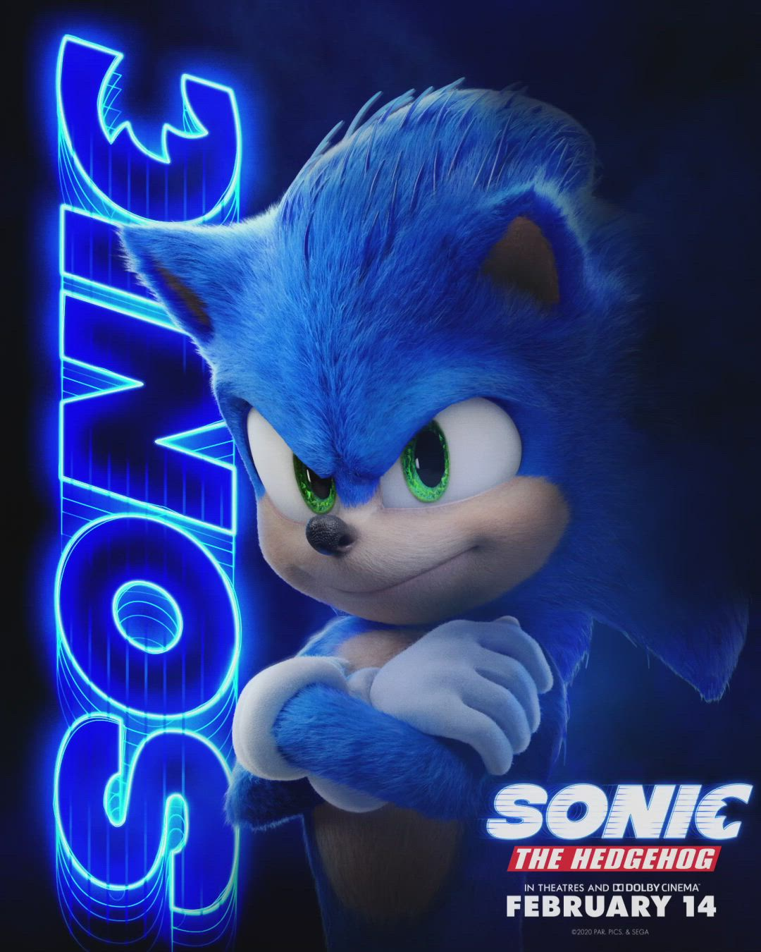 Sonic The Hedgehog In Theatres Feb 14 Video In 2020 Sonic The Hedgehog Sonic Hedgehog Movie