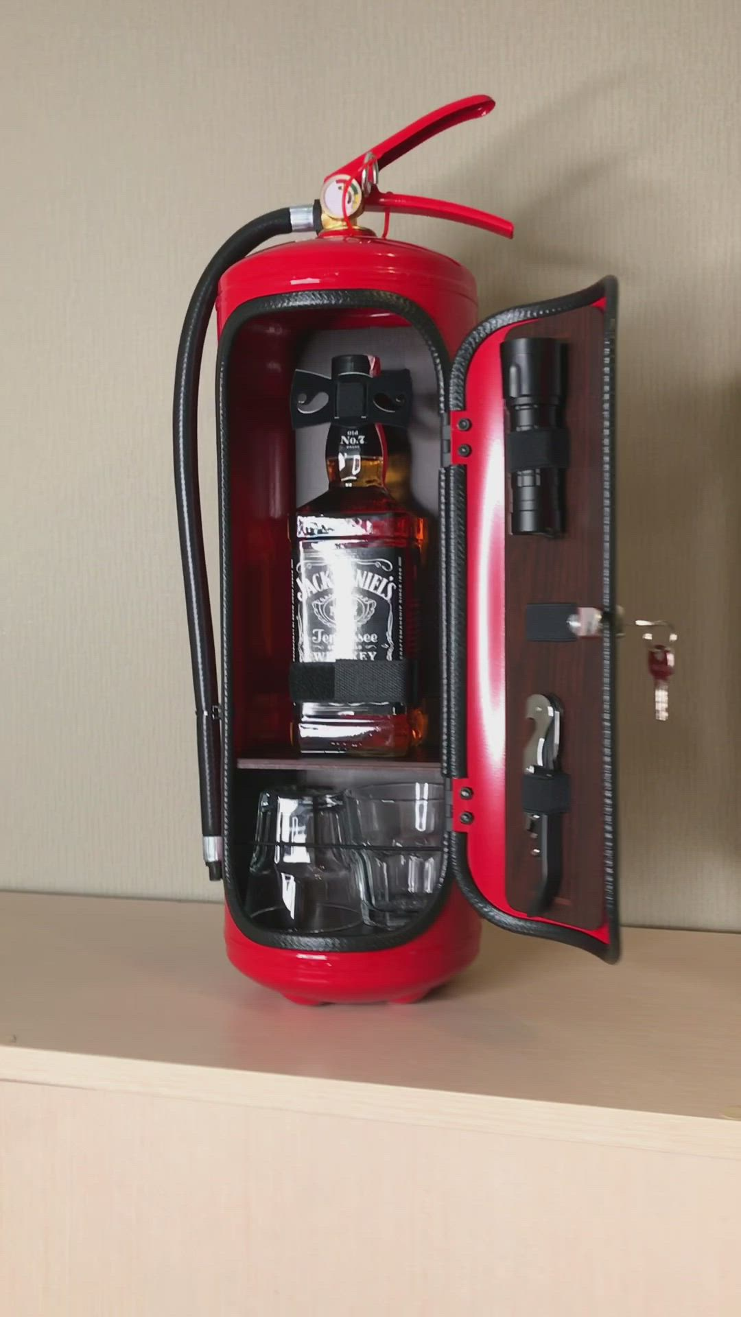 Fire Extinguisher Mini Bar Fireman Gift Firefighter Gift Video Video In 2020 Fire Extinguisher Firemen Gifts Mini Bar