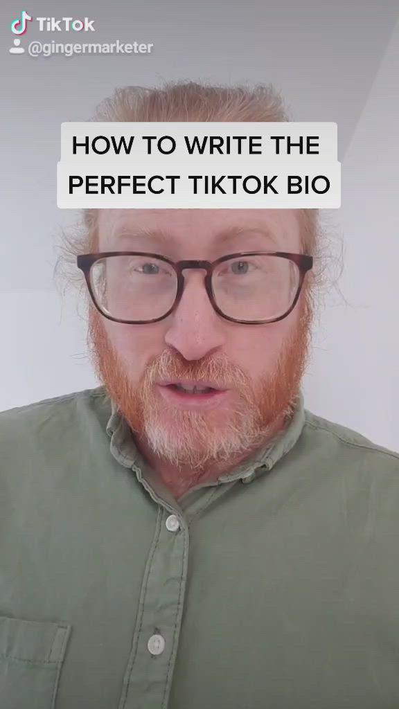 How To Write The Perfect Tiktok Bio To Attract More Followers Video Writing Tutorial My Fb