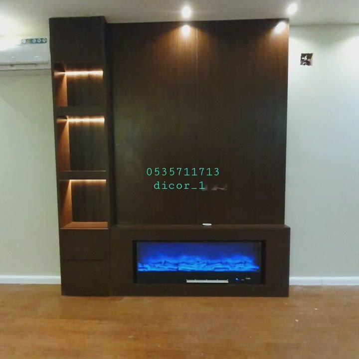 ديكور خلفية تلفزيون ديكور مدفاء ديكور طاولة تلفزيون ديكور مكتبة تلفزيون لتواصل الرياض 0535711713 Video In 2021 Home Decor Entertainment Unit Home