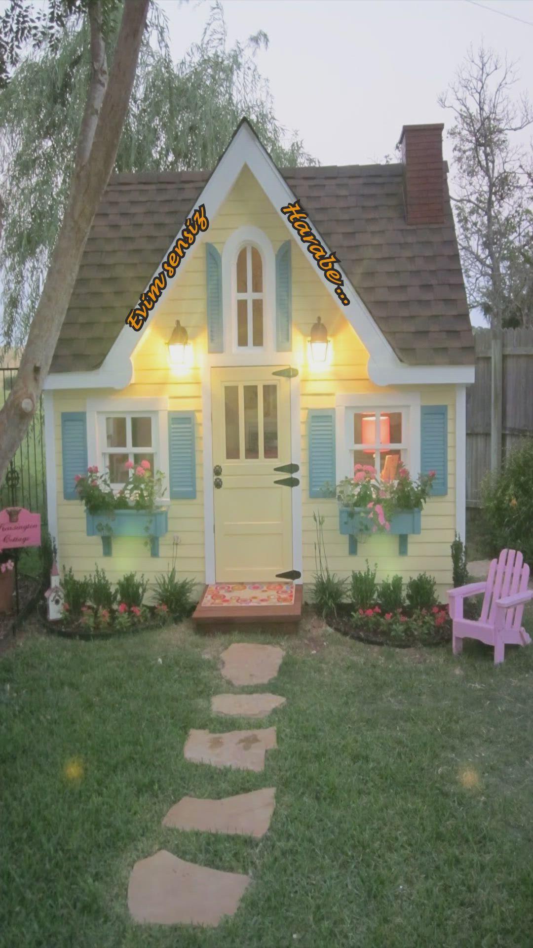 Ah Sensiz Olmaz Evim Sensiz Harabe Video In 2021 Play Houses Little Cottages House Colors Mini house in backyard