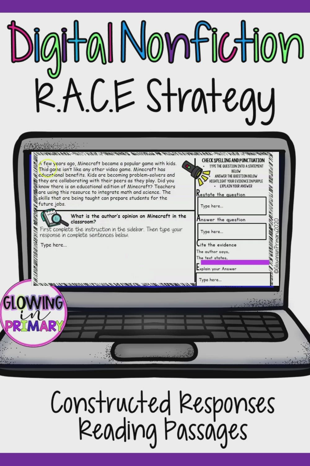 Digital R A C E Writing Strategy Passages With Questions Video Races Writing Strategy Race Writing Writing Strategies [ 1500 x 1000 Pixel ]