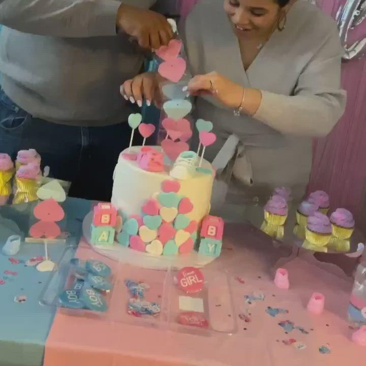 Gender Reveal Cake Video Gender Reveal Cake Baby Reveal Cakes Gender Reveal Baby Shower Invitations