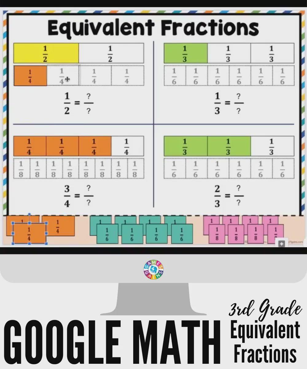 3rd Grade Equivalent Fractions Activities For Google Classroom Video Google Classroom Elementary Third Grade Math Games Google Classroom Elementary Math [ 1200 x 1000 Pixel ]