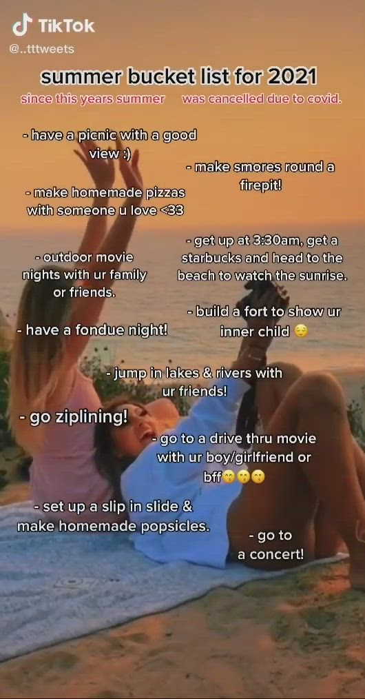 Sunrae Aja Video Crazy Things To Do With Friends Summer Fun List Things To Do At A Sleepover