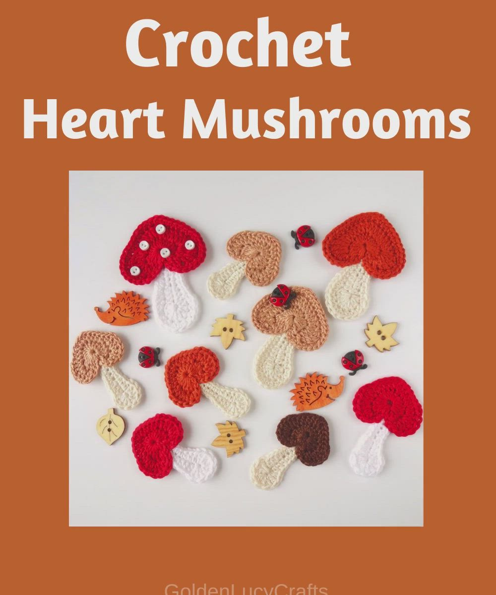 Crochet Mushroom Applique Video Video Exterior Paint Seamless Background Paper Interior Paint