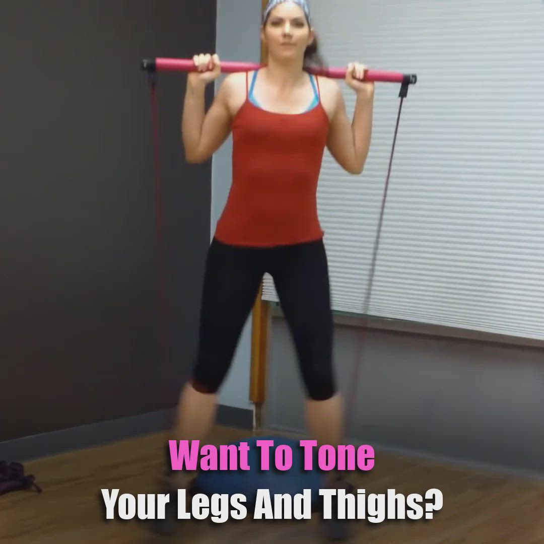 Her Pilates Pilates Bar Video In 2021 Easy Yoga Workouts Bar Workout Fitness Workout For Women