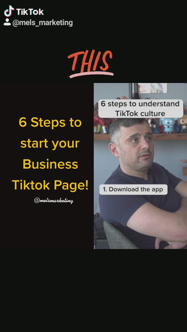 Start Marketing Your Business On Tiktok Video Video Marketing Marketing Strategy Business Marketing Sites